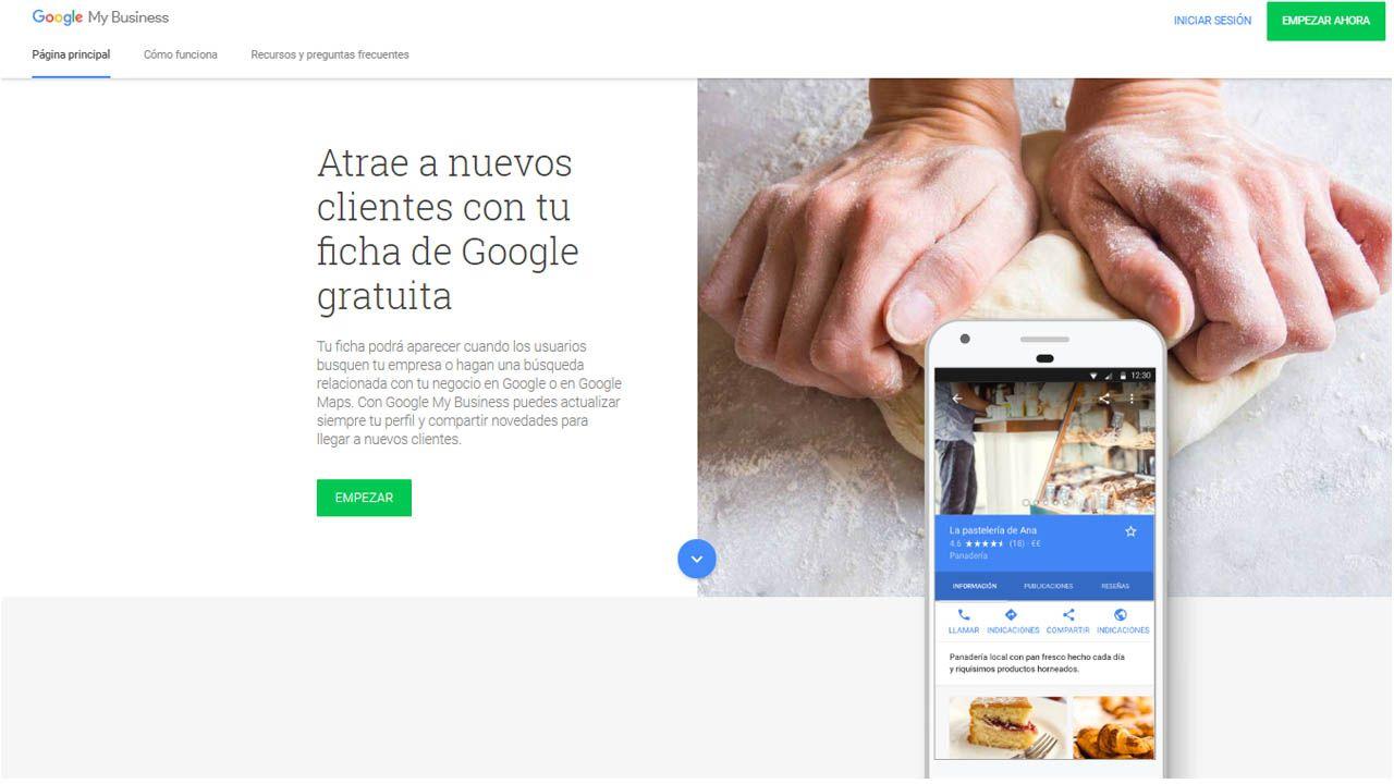 mi empresa en google
