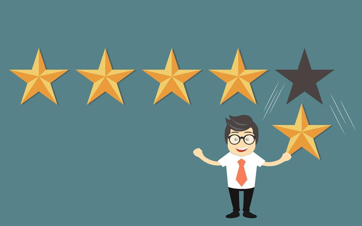 Medir experiencia del cliente con estrellas