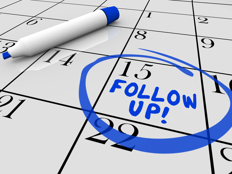 Organiza los Follow up