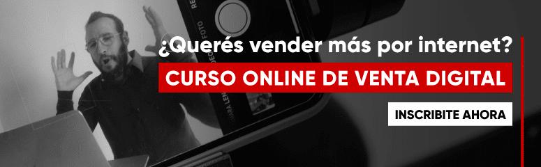 Curso online de venta digital.