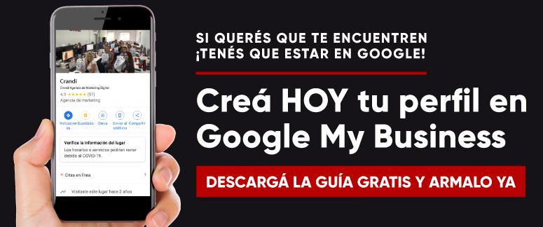 Los usuarios te están buscando, ¿qué esperás para que te encuentren? Descargá nuestra guía para armar tu perfil de Mi negocio y aparecé en las búsquedas de Google Maps.